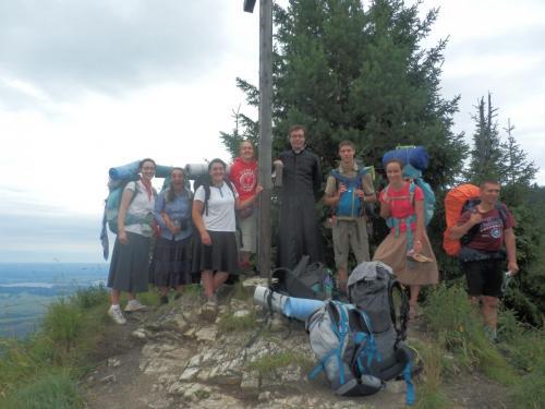 Pause photo après la marche ;-) (Equipe Ste Blandine, Tyrol-Bavière 2017)